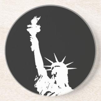 Dessous De Verre En Grès Statue de silhouette de liberté