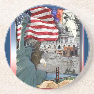 Dessous De Verre En Grès Symboles d'Américain des Etats-Unis