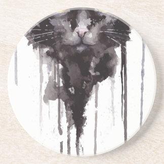 Dessous De Verre En Grès T-shirt fâché de chat