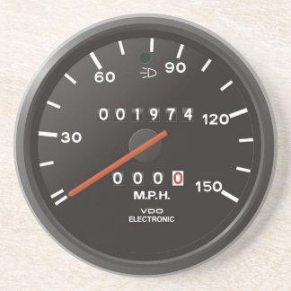 Dessous De Verre En Grès Tachymètre du classique 911 (vieille voiture à