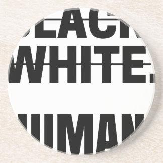 Dessous De Verre En Grès Tasse humaine blanche noire de sweat - shirt à