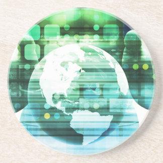 Dessous De Verre En Grès Technologie futuriste de la Science comme art de