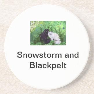 Dessous De Verre En Grès Tempête de neige et Blackpelt