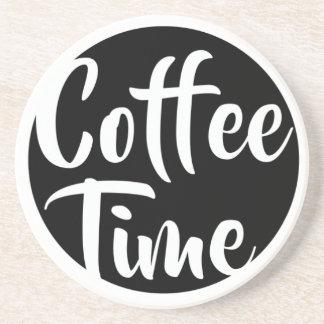 Dessous De Verre En Grès Temps de café