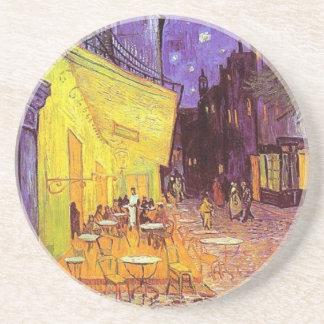 Dessous De Verre En Grès Terrasse de café de Van Gogh la nuit