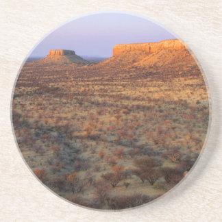 Dessous De Verre En Grès Terrasses d'Ugab, secteur de Khorixas, Namibie