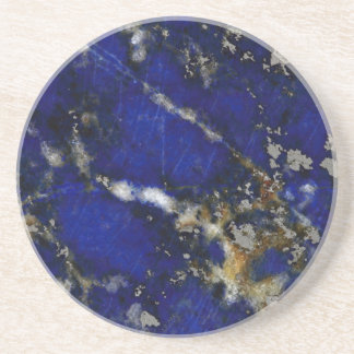 Dessous De Verre En Grès Texture en pierre : Lazulite de Lapis