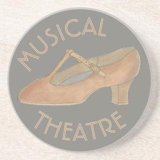 Dessous De Verre En Grès Théâtre bronzage de chaussure de danse de
