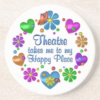 Dessous De Verre En Grès Théâtre mon endroit heureux