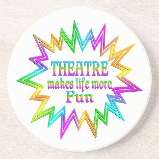 Dessous De Verre En Grès Théâtre plus d'amusement