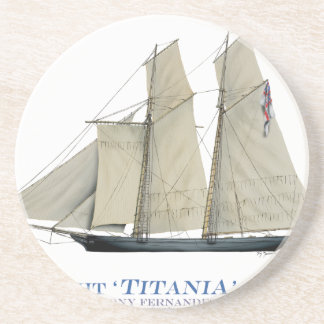 Dessous De Verre En Grès Titania 1851