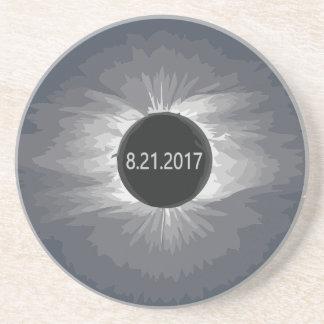 Dessous De Verre En Grès Total-Solar-Eclipse9