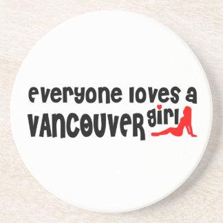 Dessous De Verre En Grès Tout le monde aime une fille de Vancouver