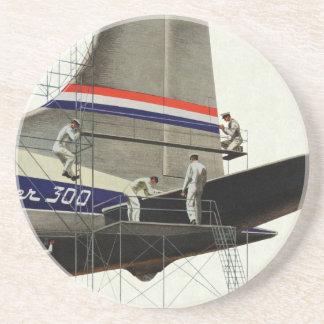 Dessous De Verre En Grès Transport vintage, entretien pour des avions