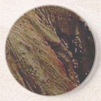 Dessous De Verre En Grès trempez le canyon coloré