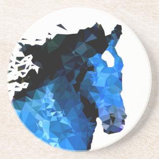 Dessous De Verre En Grès Triangle de cheval