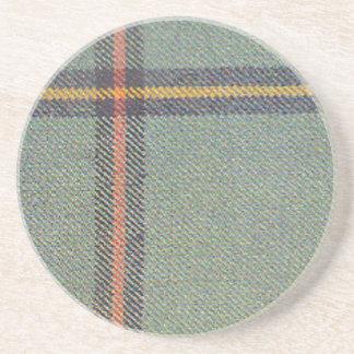 Dessous De Verre En Grès Tribu de mars/de tartan antique de Marr