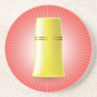 Dessous De Verre En Grès Tube jaune