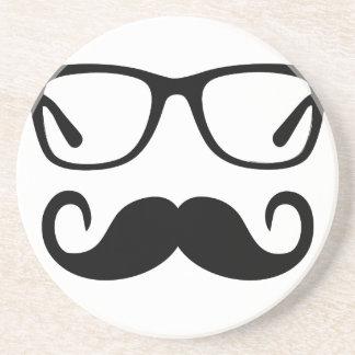 Dessous De Verre En Grès Verres de hippie et moustache de guidon