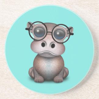 Dessous De Verre En Grès Verres de port d'hippopotame ringard mignon de