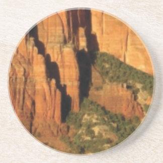 Dessous De Verre En Grès vert et orange du désert