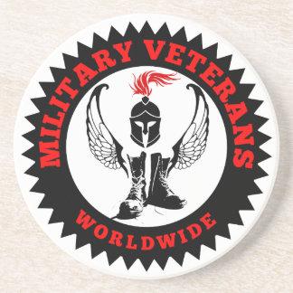 Dessous De Verre En Grès Vétérans militaires dans le monde entier