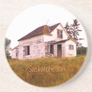 Dessous De Verre En Grès Vieille Chambre de fantôme de Saskatchewan
