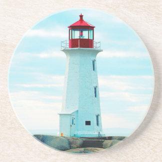 Dessous De Verre En Grès Vieux phare, océan bleu, maritime, nautique