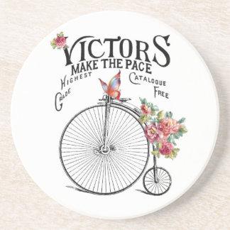 Dessous De Verre En Grès Vieux vélo vintage