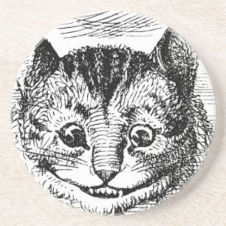 Dessous De Verre En Grès Visage de chat de Cheshire