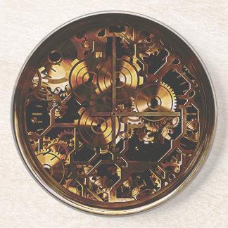 Dessous De Verre En Grès Vitesses d'horloge de Steampunk