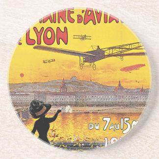 Dessous De Verre En Grès Voyage vintage, avions salon de l'aéronautique,