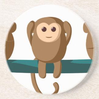 Dessous De Verre En Grès Voyez pour entendre pour parler des singes