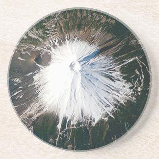 Dessous De Verre En Grès vue aérienne du mont Fuji