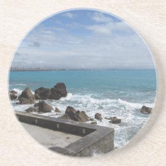 Dessous De Verre En Grès Vue panoramique de côte de Castiglioncello en