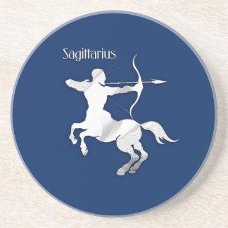 Dessous De Verre En Grès Zodiaque argenté d'Archer de Sagittaire