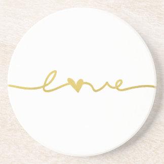 Dessous de verre en lettres de grès de l'amour  