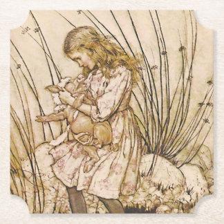 Dessous-de-verre En Papier Alice et le bébé 1 de porc