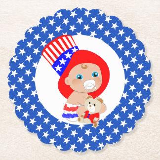 Dessous-de-verre En Papier Bébé patriote d'Américain d'Oncle Sam