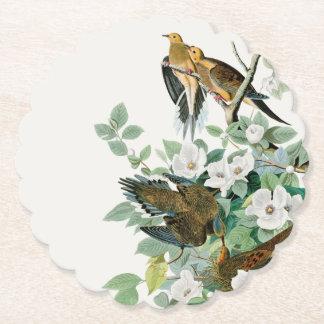 Dessous-de-verre En Papier Colombe de tortue de la Caroline, oiseaux de
