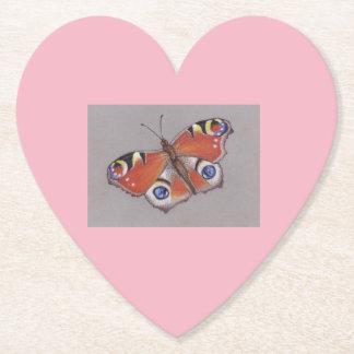 Dessous-de-verre En Papier Dessous de verre de carte de coeur avec la