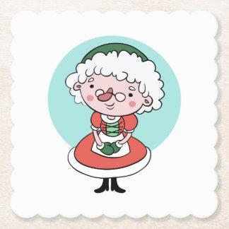 Dessous-de-verre En Papier Dessous de verre de papier de Mme Claus