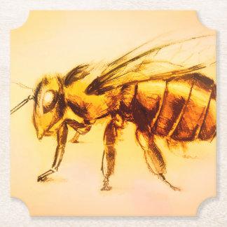 Dessous-de-verre En Papier Dessous de verre formés par abeille jaune, dessin