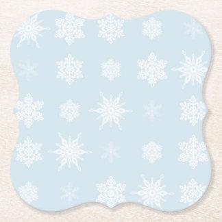 Dessous-de-verre En Papier Flocons de neige
