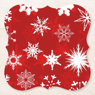 Dessous-de-verre En Papier Flocons de neige de saison de Noël