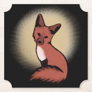 Dessous-de-verre En Papier Fox rusé rouge astucieux