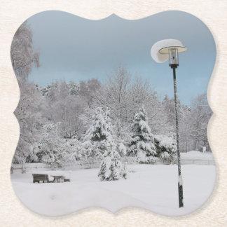 Dessous-de-verre En Papier Le pays des merveilles d'hiver