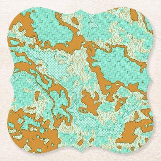 Dessous-de-verre En Papier Mélange abstrait unique 2F de motif