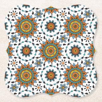Dessous-de-verre En Papier Motif de fleur opulent d'étoile de maharaja Inde