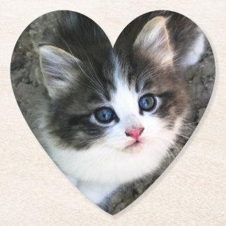 Dessous-de-verre En Papier Portrait MIGNON de chaton